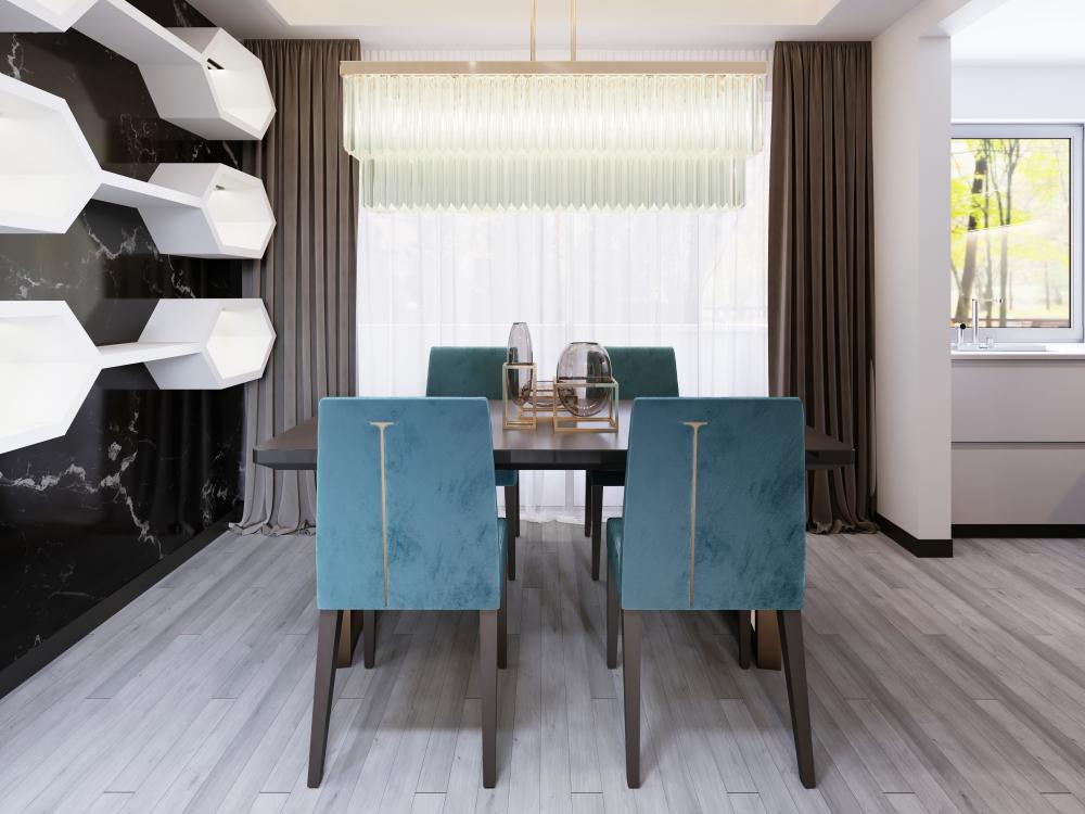 krzesła welurowe do jadalni
