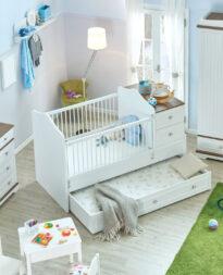 łóżko z pojemnikiem do pokoju dziecięcego